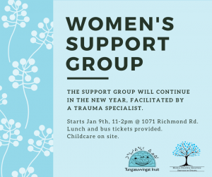 Women's Support Group @ Tungasuvvingat Inuit